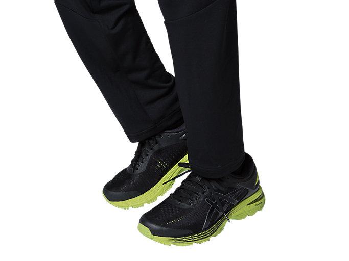 Alternative image view of Jr LIMO®ストレッチニットパンツ, パフォーマンスブラック×ブリリアントホワイト