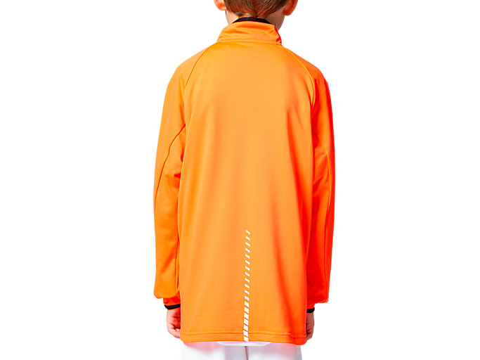 Back view of Jr LIMO®ストレッチニットジャケット, サンライズレッド