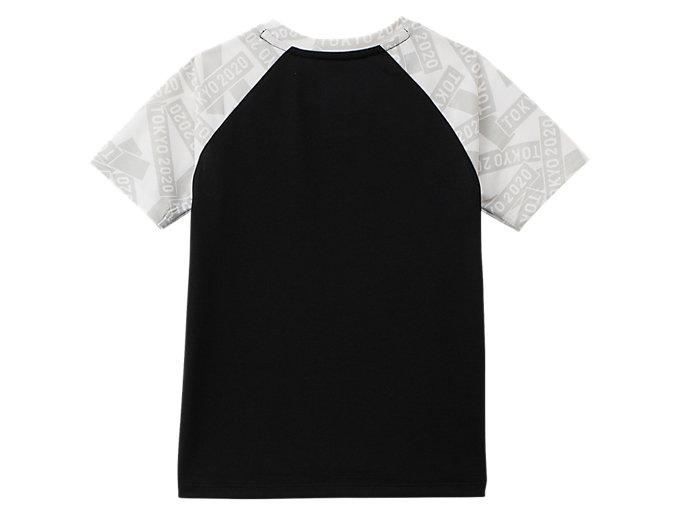 Back view of KIDS Tシャツ(東京2020オリンピックエンブレム), ブラック×ホワイト