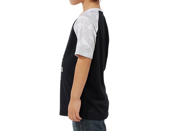 Side view of KIDS Tシャツ(東京2020オリンピックエンブレム), ブラック×ホワイト