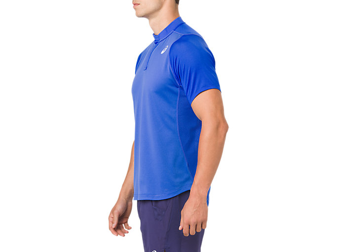 Side view of GEL-COOL POLO-SHIRT, ILLUSION BLUE