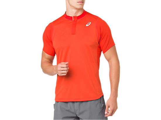 GEL-COOL POLO-SHIRT, CHERRY TOMATO