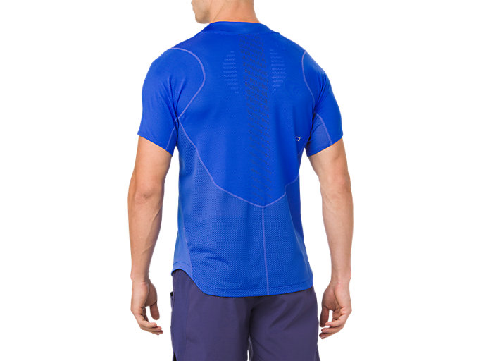 Back view of ​ GEL-COOL SS TOP, ILLUSION BLUE
