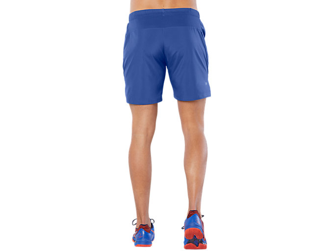 Back view of CLUB 7IN SHORT, ASICS BLUE