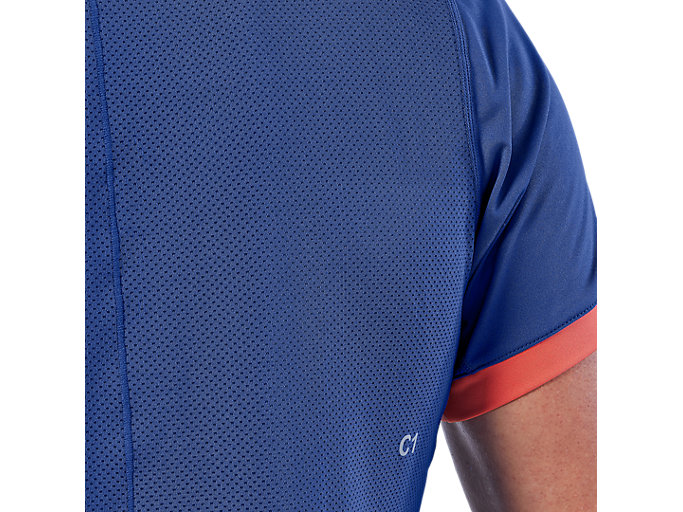 Alternative image view of CLUB SS TOP, ASICS BLUE