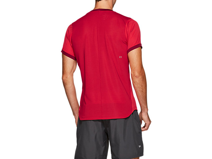 Back view of CLUB SS TOP, SPEED RED