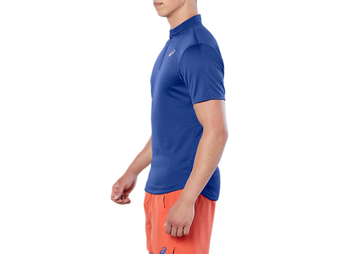 Side view of CLUB POLO-SHIRT, ASICS BLUE