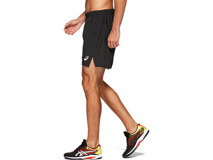 Side view of TENNIS 7IN SHORT, PERFORMANCE BLACK