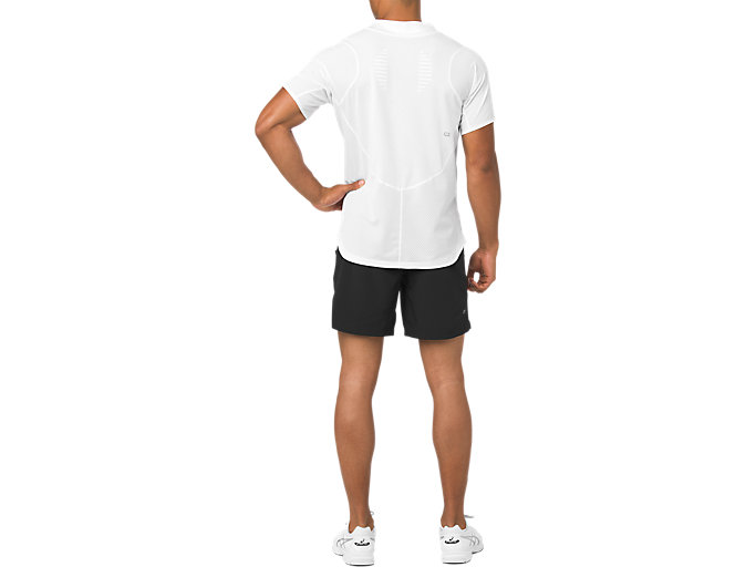 Back view of TENNIS 7IN SHORT, PERFORMANCE BLACK