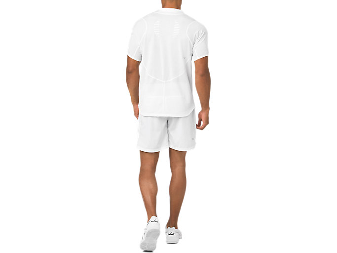 Back view of TENNIS 7IN SHORT, BRILLIANT WHITE