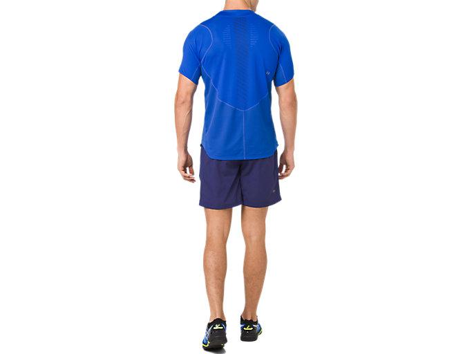 Back view of TENNIS 7IN SHORT, INDIGO BLUE