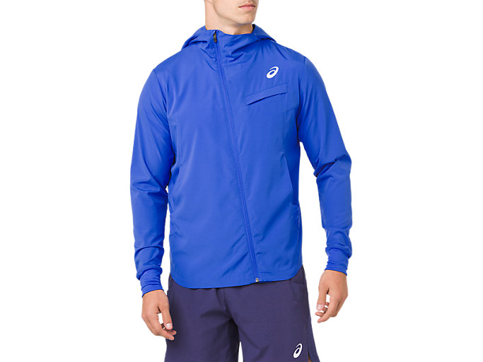 Front Top view of TENNIS WOVEN JACKET, ILLUSION BLUE