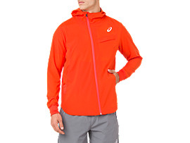 TENNIS WOVEN JACKET, CHERRY TOMATO