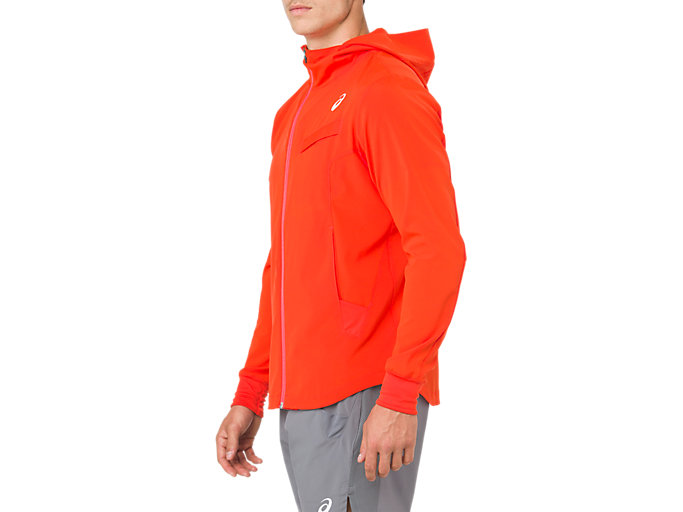 Side view of TENNIS WOVEN JACKET, CHERRY TOMATO