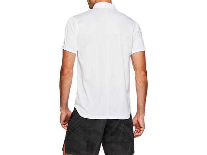 Back view of CLUB POLO-SHIRT, BRILLIANT WHITE