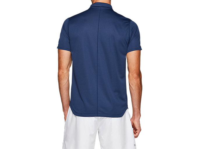 Back view of CLUB POLO-SHIRT, BLUE EXPANSE