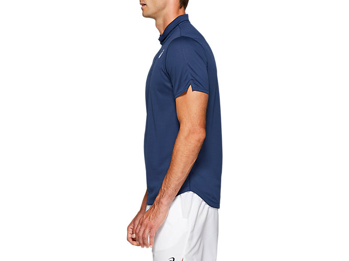 Side view of CLUB POLO-SHIRT, BLUE EXPANSE