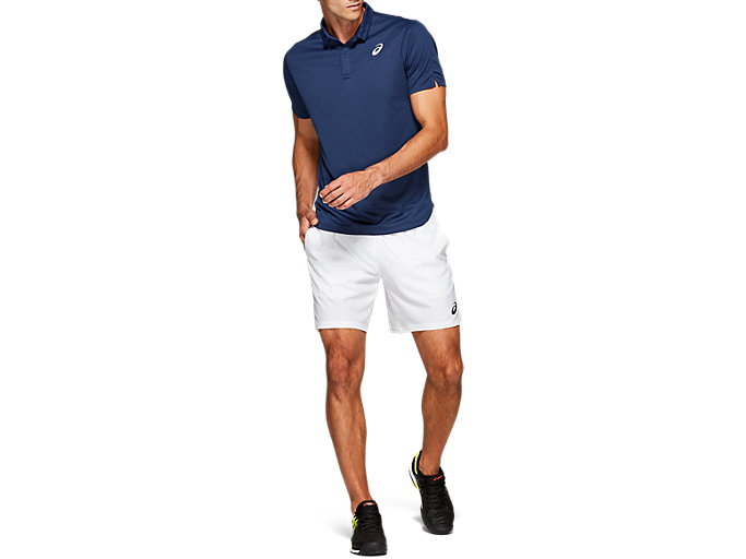 Front Top view of CLUB POLO-SHIRT, BLUE EXPANSE