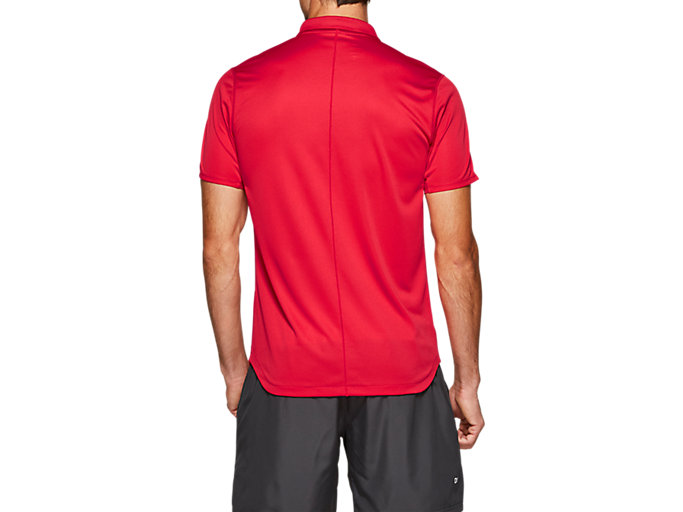 Back view of CLUB POLO-SHIRT, SPEED RED