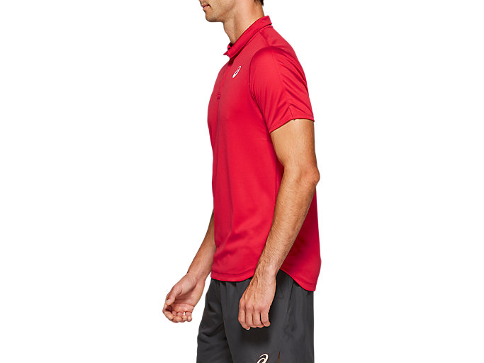 Side view of CLUB POLO-SHIRT, SPEED RED