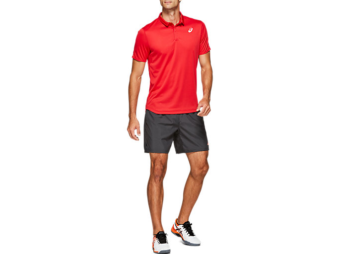 Front Top view of CLUB POLO-SHIRT, SPEED RED