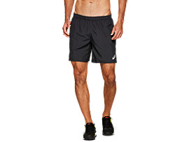 "Front Top view of CLUB M 7"" SHORTS, PERFORMANCE BLACK"