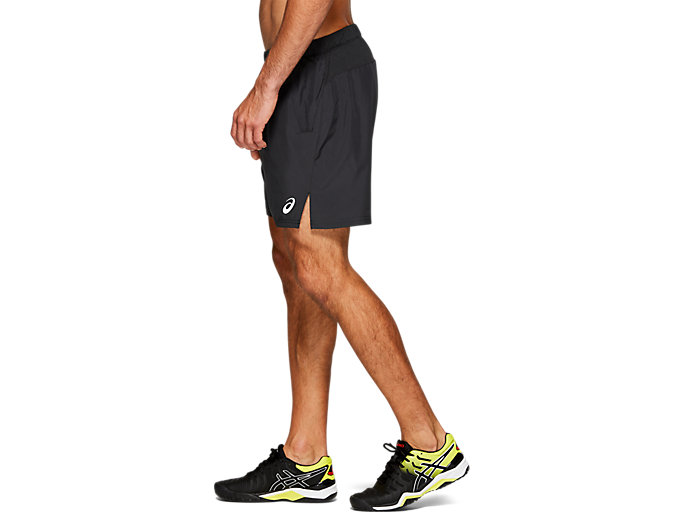 "Side view of CLUB M 7"" SHORTS, PERFORMANCE BLACK"