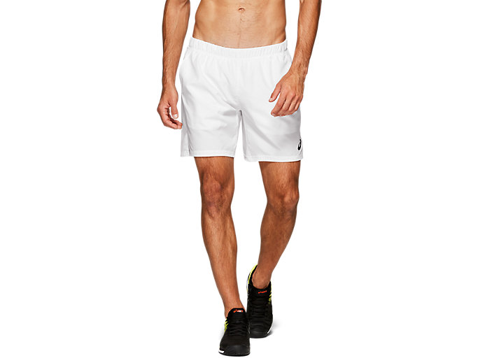 Front Top view of CLUB M 7IN SHORTS, BRILLIANT WHITE