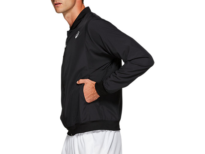 Side view of PRACTICE M JKT, PERFORMANCE BLACK