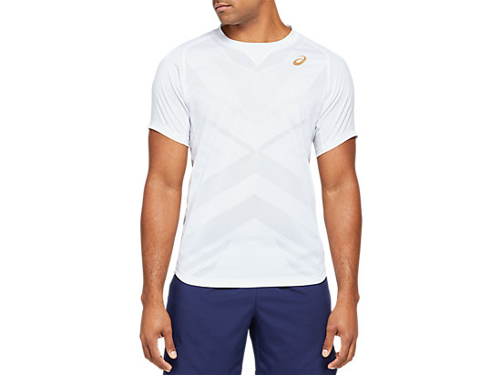 TENNIS M SS TOP BRILLIANT WHITE
