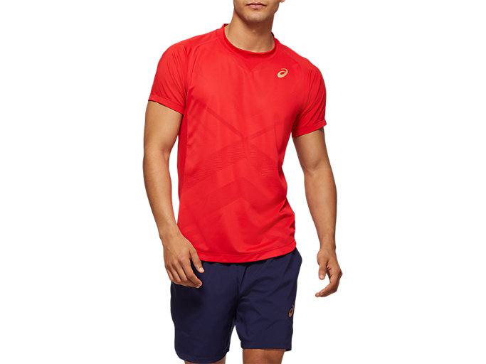 Front Top view of Tennis Short Sleeve Top