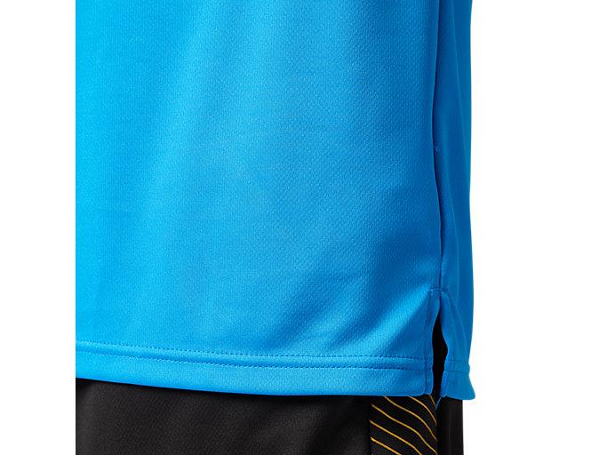 Alternative image view of プラィクティスショートスリーブトップ, ディレクトワールブルー×ブリリアントホワイト