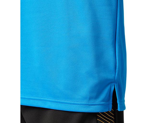 Alternative image view of プラィクティスショートスリーブトップ, ディレクトワールブルー×ショッキングオレンジ