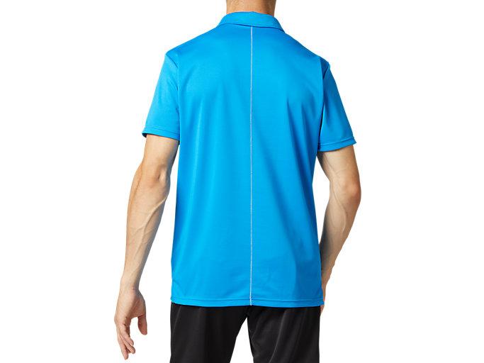 Back view of CLUB ポロシャツ, ディレクトワールブルー