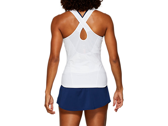 Back view of GEL-COOL™ TANK TOP, BRILLIANT WHITE