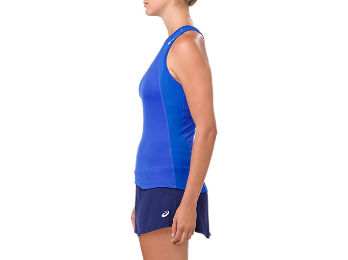 Side view of GEL-COOL TANK TOP, ILLUSION BLUE