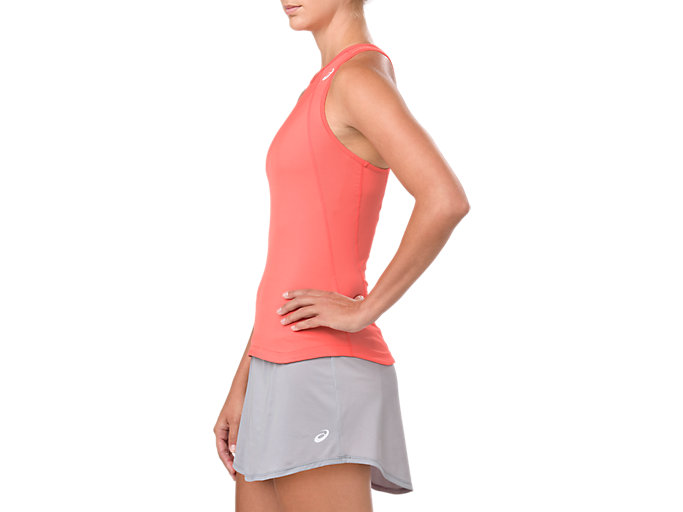 Side view of GEL-COOL TANK TOP, PAPAYA
