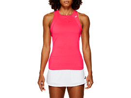 Front Top view of GEL-COOL™ TANK TOP, LASER PINK