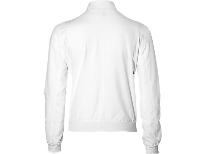 Back view of PRACTICE JACKET, BRILLIANT WHITE