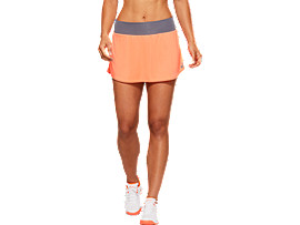 Front Top view of CLUB SKORT, FLASH CORAL