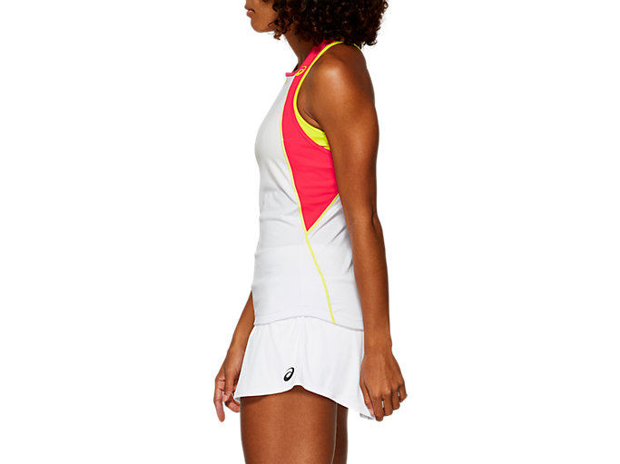 Side view of CLUB TANK TOP, BRILLIANT WHITE/SOUR YUZU