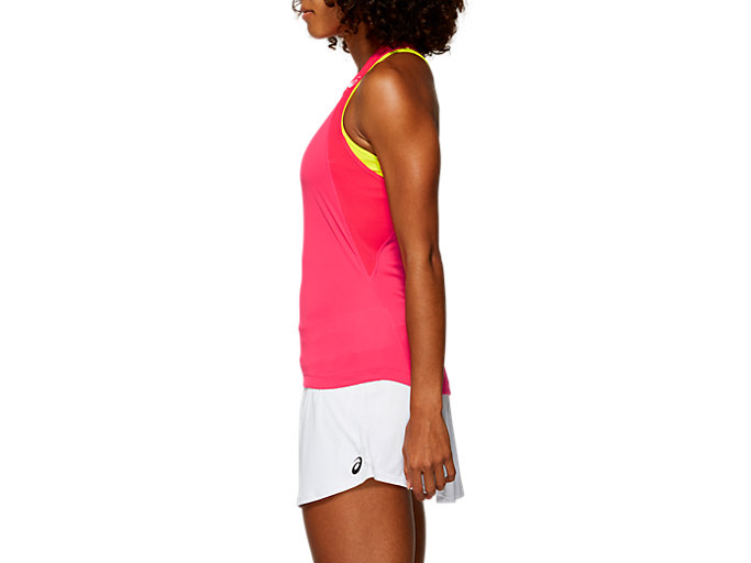 Side view of CLUB TANK TOP, LASER PINK