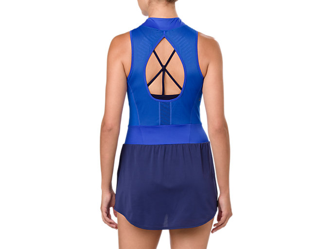 Back view of GEL-COOL™ DRESS, ILLUSION BLUE
