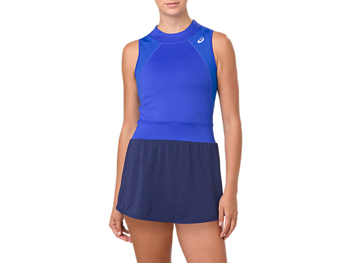 Front Top view of GEL-COOL™ DRESS, ILLUSION BLUE