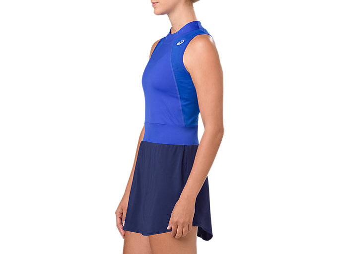 Side view of GEL-COOL™ DRESS, ILLUSION BLUE