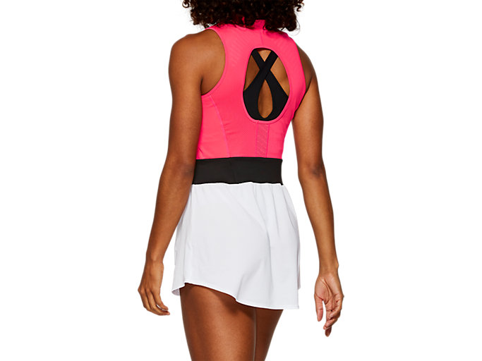 Back view of GEL-COOL™ DRESS, LASER PINK