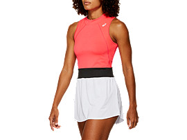 Front Top view of GEL-COOL™ DRESS, LASER PINK
