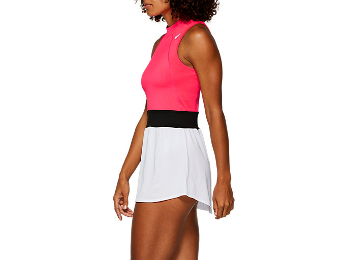 Side view of GEL-COOL™ DRESS, LASER PINK