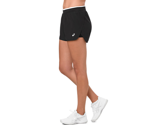 Side view of PRACTICE SHORT, PERFORMANCE BLACK