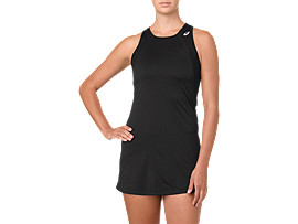 Front Top view of CLUB DRESS, PERFORMANCE BLACK